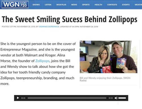WGN Radio: The Sweet Smiling Success Behind Zollipops