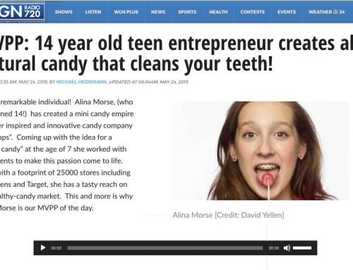 MVPP: 14 year old teen entrepreneur creates all-natural candy that cleans your teeth!